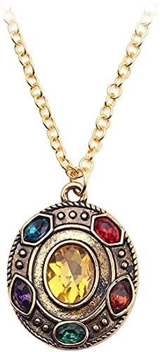 banbeitaotao Runde Gold Kristall Anhänger Halskette Für Frau Junge Kampf Ultimative Halskette Kettenglied Schmuck Schmuck