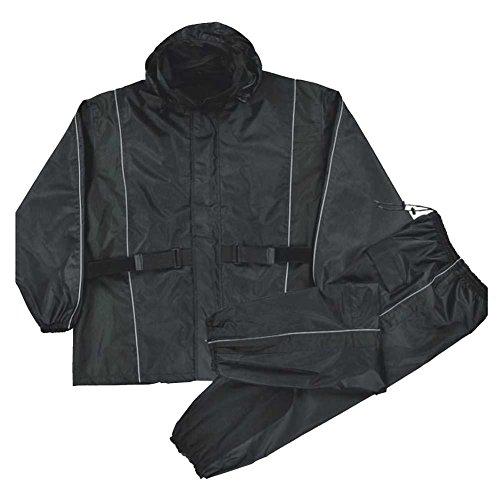 Nexgen Men's Waterproof Rain Suit (Black, XXX-Large)