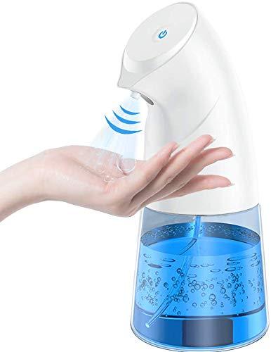 ZumYu Dispensador Hidroalcoholico Automatico, [450 ML de Gran Capacidad] Sin Contacto Dispensador de Desinfectante, Sensor de Infrarrojos, IPX4 Función Impermeable, Adecuado para Cocina/Oficina/Hotel