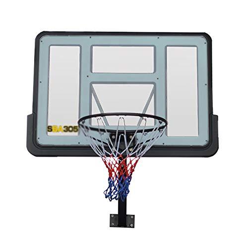 ERRU Canasta de Baloncesto Soporte De Pared del Aro De Baloncesto para Niños Jóvenes Adolescentes, 43 '' Mini PVC Tablero De Interior Al Aire Libre, Estándar Meta Junior Aro