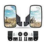 UTV Rearview Side Mirror Easily Adjustable Compatible with Polaris Ranger 570, 900XP, 1000 (Polaris Pro Fit) Can Am Maverick Trail, Defender. High Impact Explosion-Proof Glass
