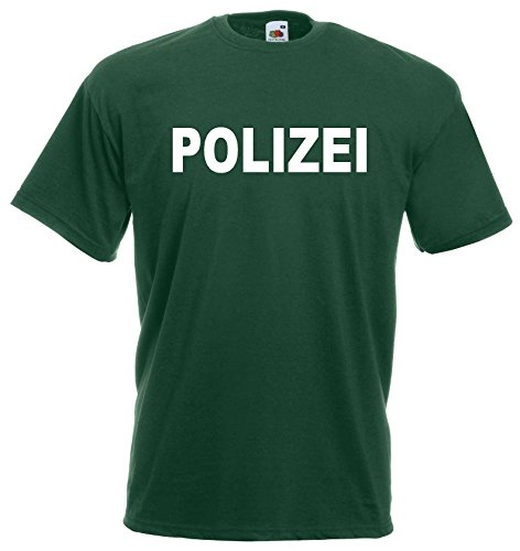 World-of-Shirt Kinder T-Shirt Polizei Funshirt 104-164|grün-128