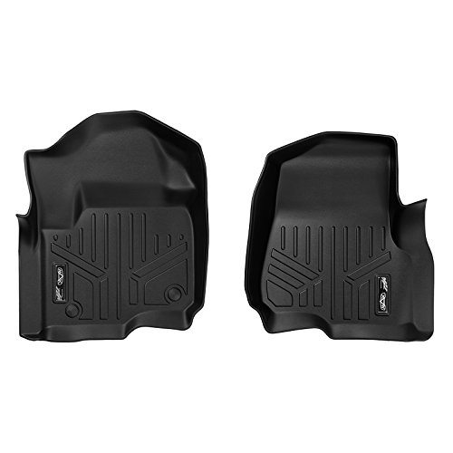 MAXLINER Floor Mats 1st Row Liner Set Black for 2017-2018 Ford F-250/F-350 Super Duty Crew Cab or SuperCab