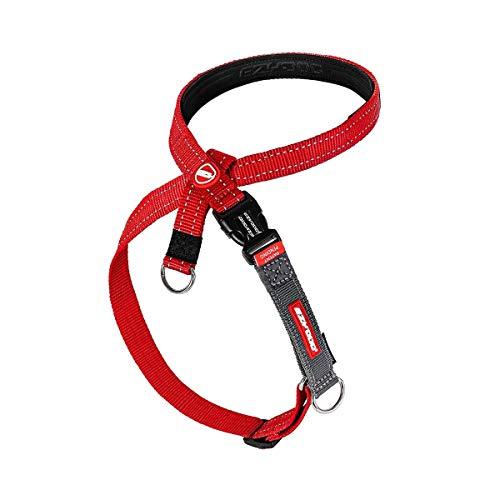EzyDog Anti Zieh Geschirr Hund - Crosscheck Hundegeschirr für Kleine, Mittelgroße und Große Hunde, Hundetraining Zubehör, Reflektierendes, Größenverstellbar (S, Rot)