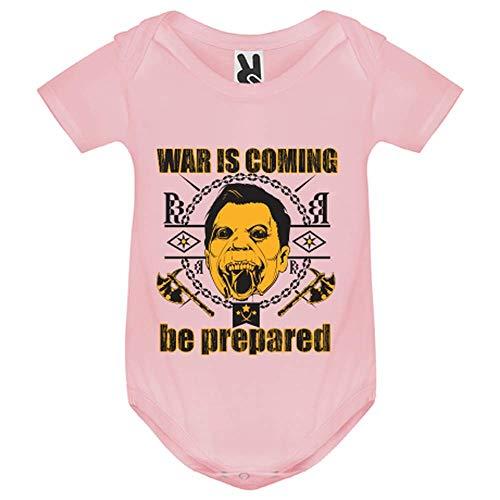 LookMyKase Body bébé - World War - Bébé Fille - Rose - 18MOIS