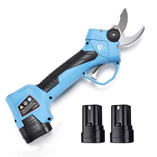 BAIDELE Professional 16.8V Cordless Electric Pruning Shears,1 Inch (25mm) Cutting Diameter,2PCS Backup Rechargeable 2Ah Lithium Battery Powered,Anti-Cut Safety Electric Pruner,6-7 Working Hours