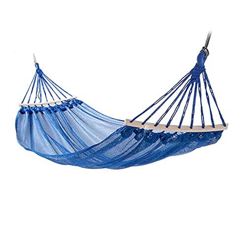 FGJH La Hamaca de Malla también se Utiliza para un Columpio para el Recorrido al Aire Libre Que acampa, Dormir y Descansar la Hamaca Neta 728 (Color : Blue, Size : 200cmX120cm)