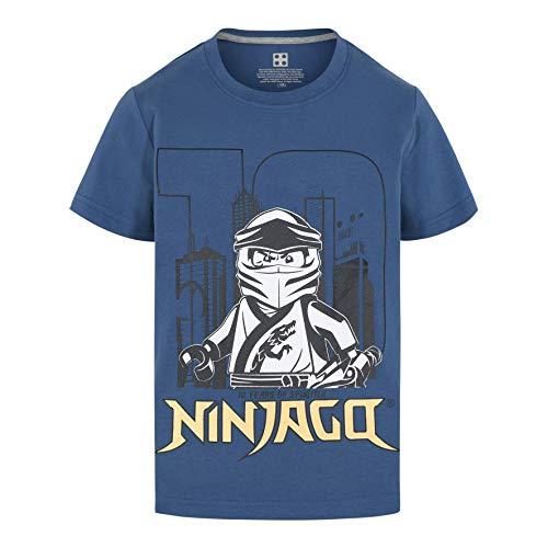 LEGO Ninjago SS T-Shirt 10 Years Jubiläum Camiseta, Azul, 152 cm para Niños