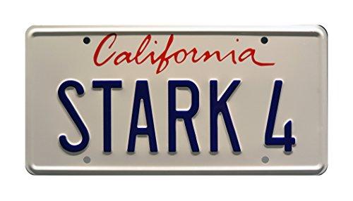 Iron Man | STARK 4 | Metal Stamped License Plate
