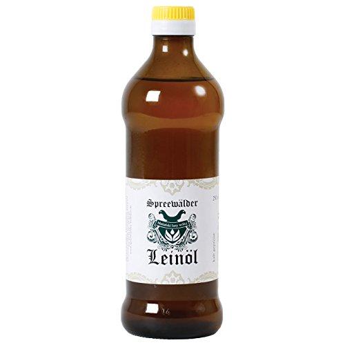 Original Spreewälder Leinöl kaltgepresst, ungefiltert 100{6e82dcbadace911ae0fd7ded167b45f4f187bf57ddcc5de1522632e3d5864b71} naturrein und naturbelassen Leinsamenöl Omega 3 vegan reines Naturprodukt aus dem Spreewald (500 ml)