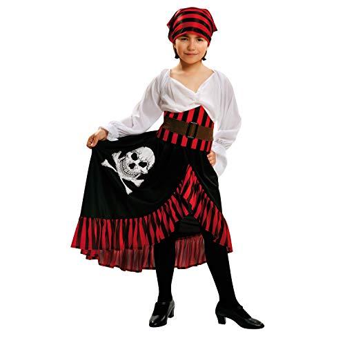 Disfraz de pirata para niña con falda larga, varias tallas.