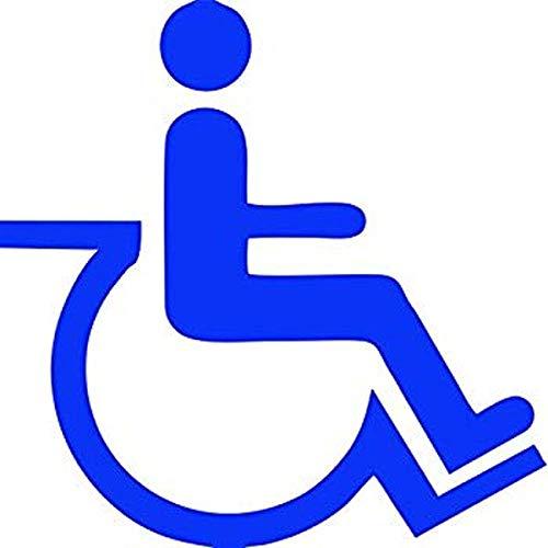 myrockshirt Autoaufkleber Rollstuhl Behinderten Piktogramm ca.20cm Aufkleber,Sticker,Decal,Autoaufkleber,UV&Waschanlagenfest,Profi-Qualität