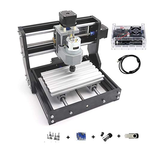 DIY Mini 1610 PRO Milling Machine 3 Axis GRBL Control CNC Router Kit Engrave PVC,PCB,plastic,wood router engraver Engraving Machine CNC1610 Pro with ER11 Collet (1610 Pro)