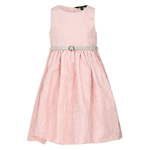 [Apply coupon] STOP Girl's Blended A-Line Knee Length Dress (205775825_Pink_4 to 5 Years)
