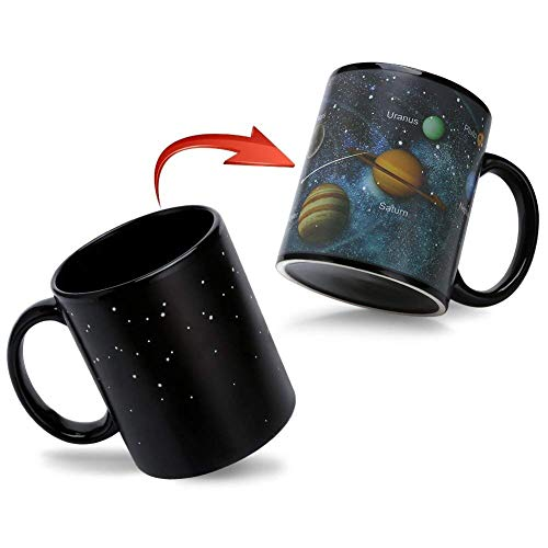 Magische Kaffeetasse,Tasse Thermoeffekt Sonnensystem Geschenk fuer Maenner Papa Geschenkideen Lustige Kaffeetassen 12Oz/350ml Keramik Becher Tassen Geschenke für Männer/Mann