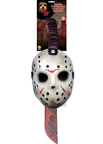 Maschera da Hockey di Jason Voorhees e Machete Set