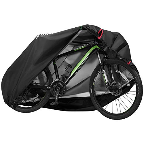 MOVTOTOP Bike Cover, 【2020 Upgraded】 Thicken Bicycle Cover Waterproof for Outdoor Storage, 29'' Heavy Duty 210D Oxford Bike Outdoor Cover, Protect Bike from Rain UV Snow Dust, Black