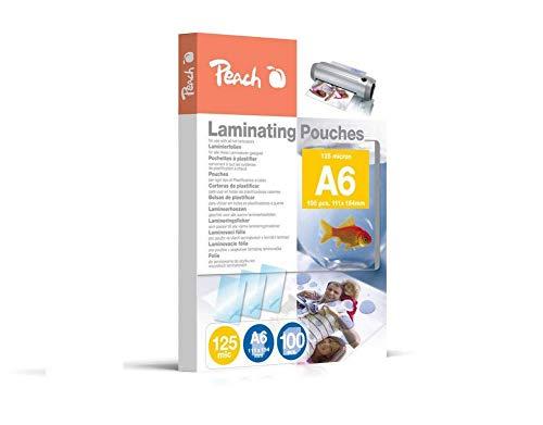 Peach PP525-04 Laminierfolien DIN A6, 125 mic, 100 Stück