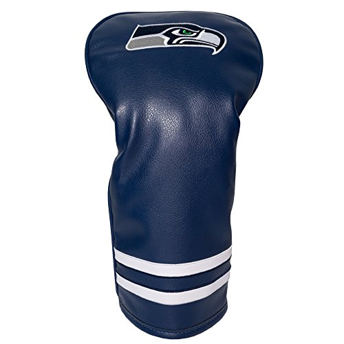 Team Golf NFL Seattle Seahawks Vintage Driver Golf Club Headcover, Form Fitting Design, Retro Design & Superb Embroidery