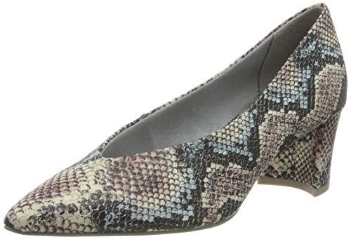 Marco Tozzi 2-2-22402-34, Zapatos de Tacón Mujer, Azul (Sky Multi Str. 878), 39 EU
