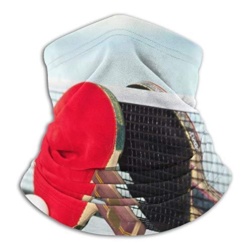 Dydan Tne Calentador de Cuello, Polaina, Raquetas de Tenis de Mesa, Gorros de Microfibra Suave, Bufanda Facial, máscara para Clima frío de Invierno para Hombres y Mujeres NCK-1785