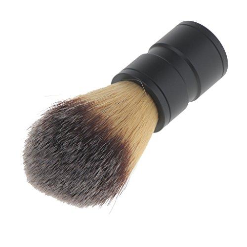 dailymall Brosse à Raser En Poils Nylon à Manche Alliage Pour Nettoyage Facial à - Poignée Noire