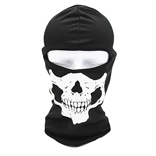Kylewo Sturmhaube Skull-face/Skelett, Geister Schädel Maske Full Face Cosplay Balaclava für Ski Motorrad Sport Kostüme