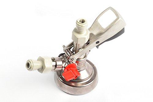 Sudbuy Attacco Innesto Accoppiatore TIPO KEY KEG - Spillatore Spillatura Fusti - Completo di attacchi rapidi - BIRRA - VINO - INOX