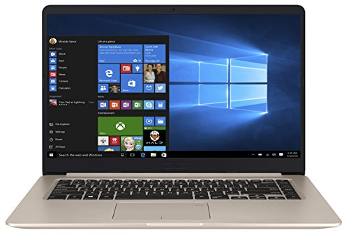 Asus VivoBook S15 S510UA-BR124T 39,62 cm (15,6 inch mat HD) laptop (Intel Core i5-7200U, 8GB RAM, 1TB HDD, Intel HD Graphics, Win 10 Home) goud
