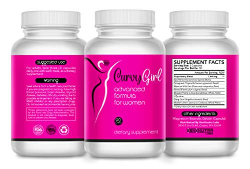 Female Weight Gain Pills- Breast and Butt Enhancement for Women- Get The Curves You Want Fast- Fill Out Your Jeans and Swimsuit Without Surgery- 90 Capsules