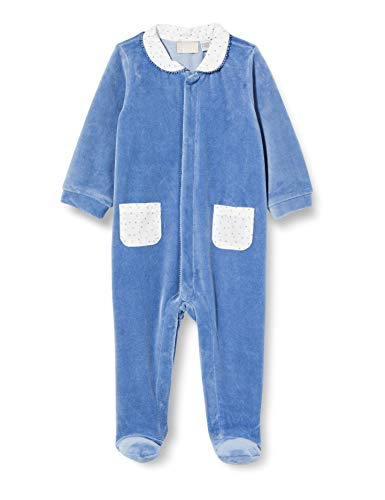 Pepe Jeans Tutina con Apertura Frontale Pigiamino per Bambino e Neonato, Azzurro, 056 Unisex-Bimbi