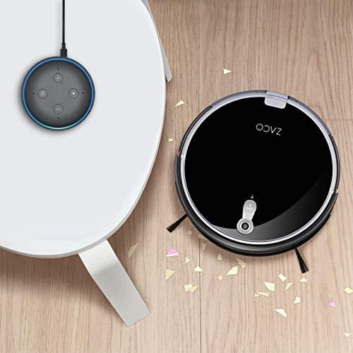 ZACO A8s Saugroboter mit Wischfunktion, App & Alexa Steuerung, 7,2cm flach, automatischer Staubsauger Roboter, 2in1 Wischen oder Staubsaugen, für Hartböden, Fallschutz, mit Ladestation - 9