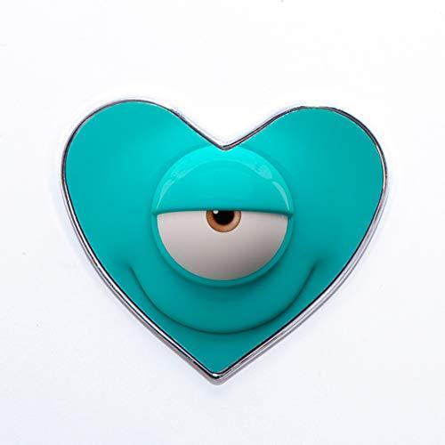 Generic Lustige Smile Blue Ciclop Emoji Minimalist Edelstahl Kühlschrankmagnete, Metall, Herz