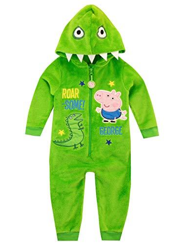 Peppa Pig Pijama Entera para niños George Pig Verde 4-5 años