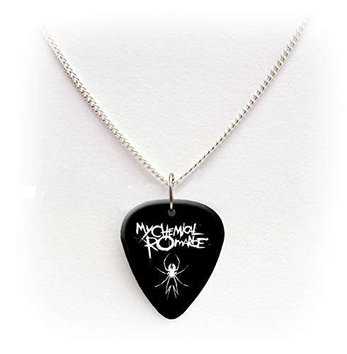 My Chemical Romance Guitar pick plectrum logo Necklace 24'BW