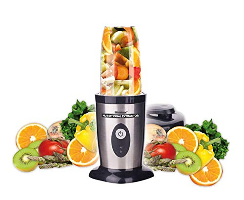BEST DIRECT Ultramax Visto en TV Extractor de nutrientes de Alta velocidad con Libro de Recetas Mezcladora eléctrica de Verduras & Frutas y Mini Exprimidor de Zumo