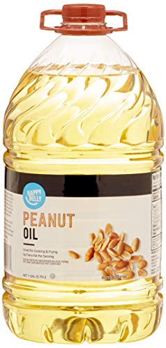 Amazon Brand – Happy Belly Peanut Oil, 128 Fl Oz