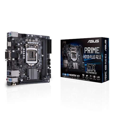 Asus Prime H310I-PLUS R2.0 LGA 1151 (Buchse H4) Intel H310 Mini ITX - Motherboards (DDR4-SDRAM, DIMM, 2133, 2400, 2666 MHz, Dual, 32 GB, Intel)