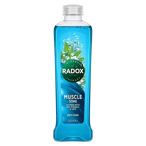 Radox Muscle Soak Bath Soak with Sage & Sea Minerals, 500ml