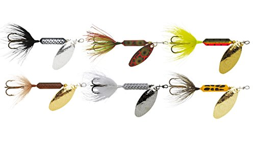Yakima Bait Rooster Tail Trophy Pak 1/8oz Spinner Assortment (6 Pack), Multicolor