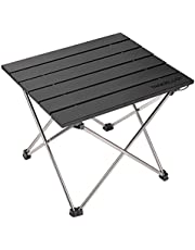 TREKOLOGY Draagbare campingtafel met aluminium tafelblad, harde opvouwbare tafel in een tas voor picknick, kamp, strand, handig om te dineren, snijden, koken met brander en gemakkelijk schoon te maken