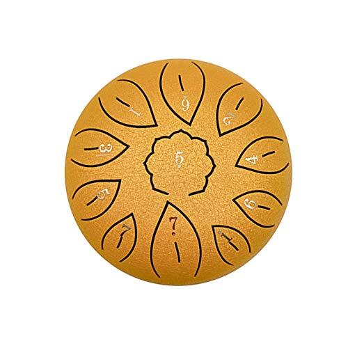 bozitian Tambor de lengua de acero – 11 notas C Key Handpan Drum Kit Chanting Drum Percusión Instrumento con palillos de tambor, libro de tutoriales, cubierta de dedo, bolsa de tambor