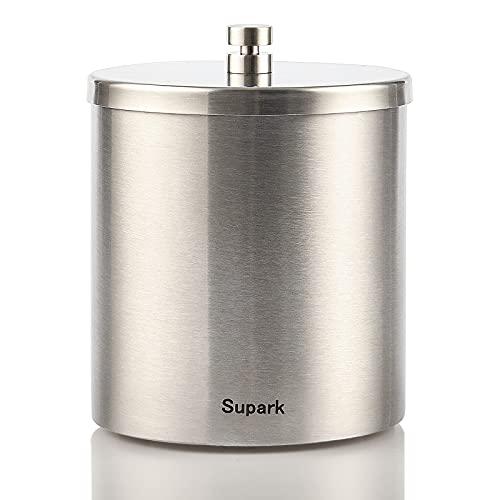 Supark 灰皿 ふた付き 屋外 防風 防臭 密閉 ステンレス はいざら 消臭 大容量 洗いやすい 滑り止め (大サイズ)