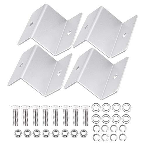 iMiMi Zonnepaneel montage, 4 PCS ZB-01 zilver Toon Zonnepaneel montage Z beugel Set voor jacht/zonnepaneel