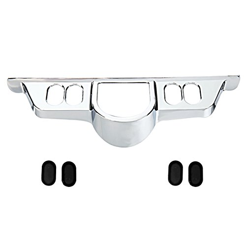 Rudyness Chrome Switch Dash Panel Accent Cover for Harley Touring 96-13 Electra Glide/06-13 Street Glide/09-13 Tri Glide
