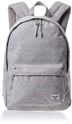 Herschel Classic Backpack, Light Grey Crosshatch, Mid-Volume 18.0L