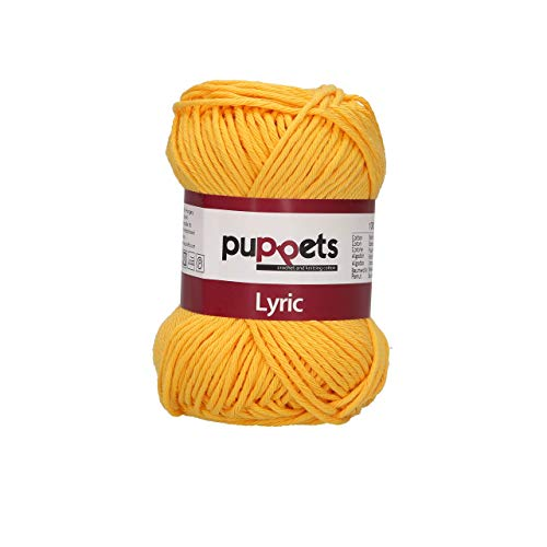 Puppets Lyric Stärke 8 4572008-05024 orange Häkelgarn, 100% Baumwolle