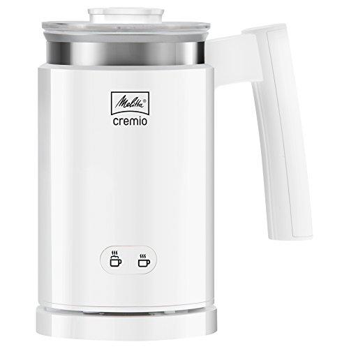 Melitta CREMIO 1014-01 Milchschäumer | Für kalte und warme Milch | Antihaftbeschichteter Behälter | Perfekter, feinporiger Milchschaum | Weiß