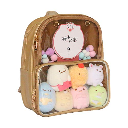 Ita Bag Leather Backpack Transparent Itabags Anime Bag Decorable Clear Bag