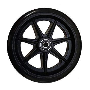 """Front and Rear 6"""" Rollator Replacement Wheel Assembly 1"""
